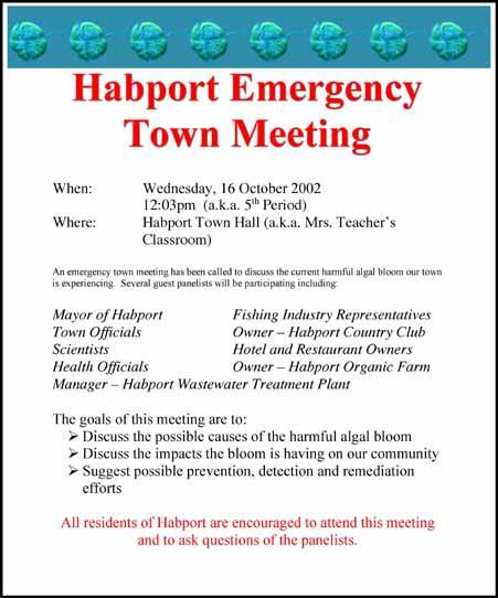 habport meeting flyer