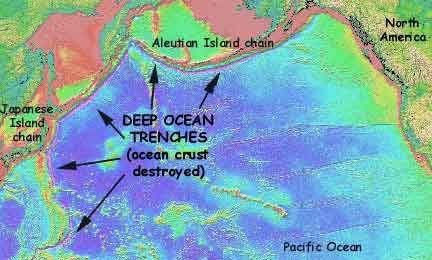 Virtual vacationland bathymetry pacific ocean bathymetry showing deep ocean trenches gumiabroncs Images